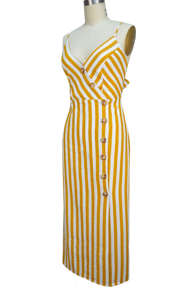 Emma Sun Dress - Yellow Stripe