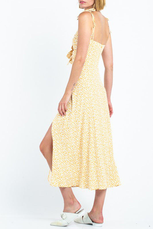 Farah Sun Dress - Yellow Daisies