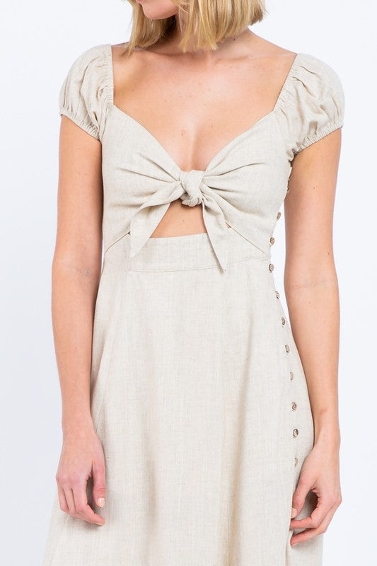 Gemma Sun Dress - Natural Tan