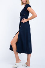 Gemma Sun Dress - Navy