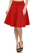 Grace Circle Skirt - Red