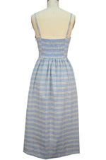 Hannah Sun Dress - Blue Plaid