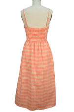 Hannah Sun Dress - Peach Plaid