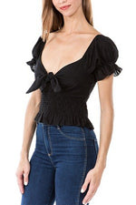 Isabella Top - Black Eyelet