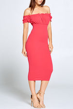 Kirstie Wiggle Dress - Raspberry