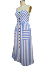 Layla Sun Dress - Blue Stripe