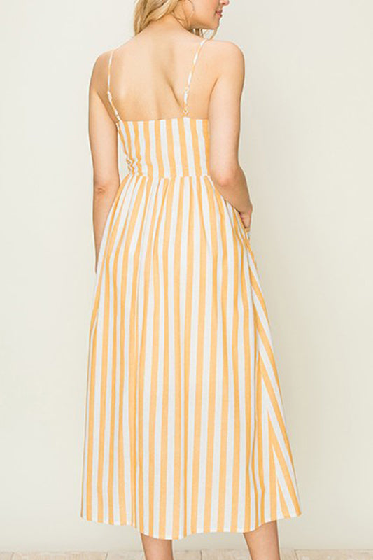 Layla Sun Dress - Yellow Stripe
