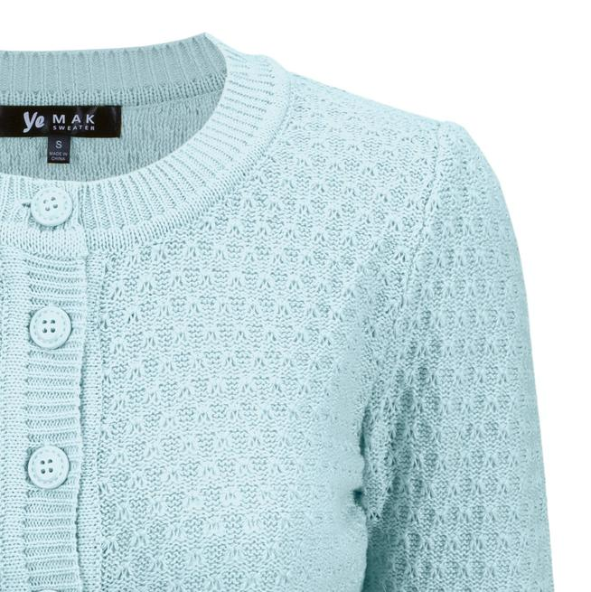 Angela Vintage Cardigan - Light Blue