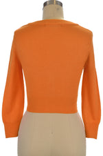 Jenny Cropped Cardigan - Light Orange