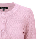 Angela Vintage Cardigan - Light Pink