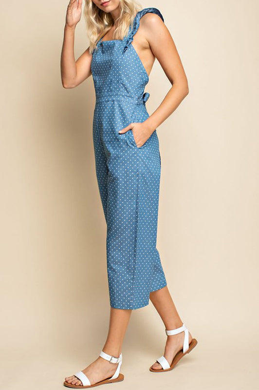 Molly Jumpsuit - Chambray Dots