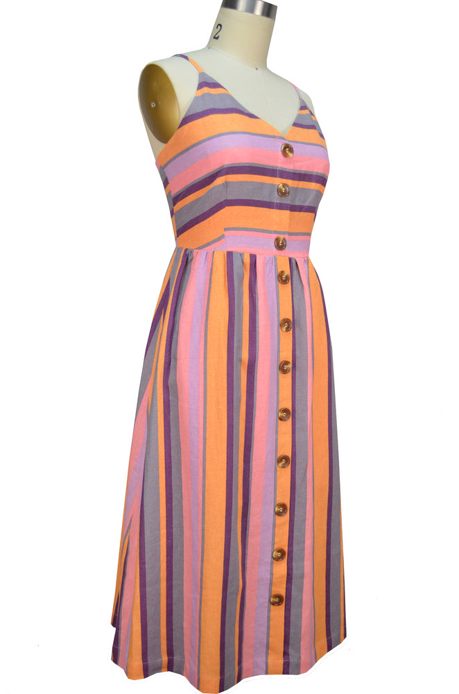 Naomi Sun Dress - Multi Stripe