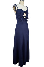 Nicole Sun Dress - Navy Blue