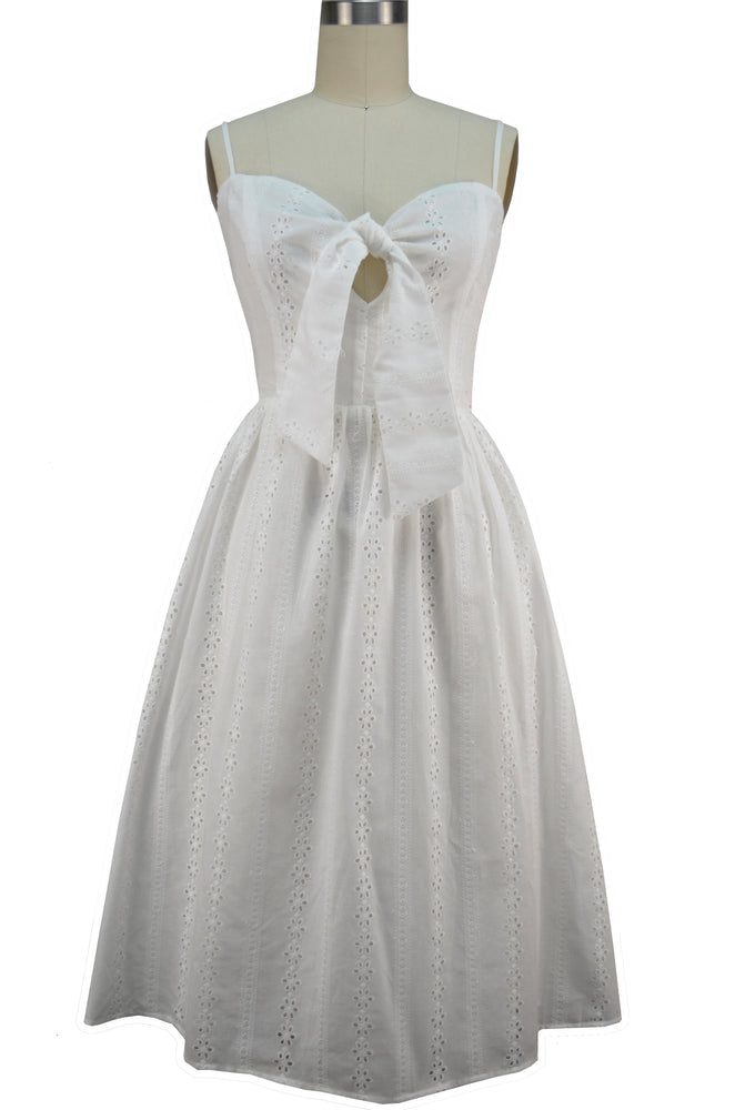 Nora Sun Dress - White Eyelet