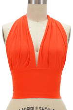 Marilyn Halter Top - Orange