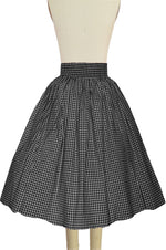 Sara Pocket Skirt - Black Gingham