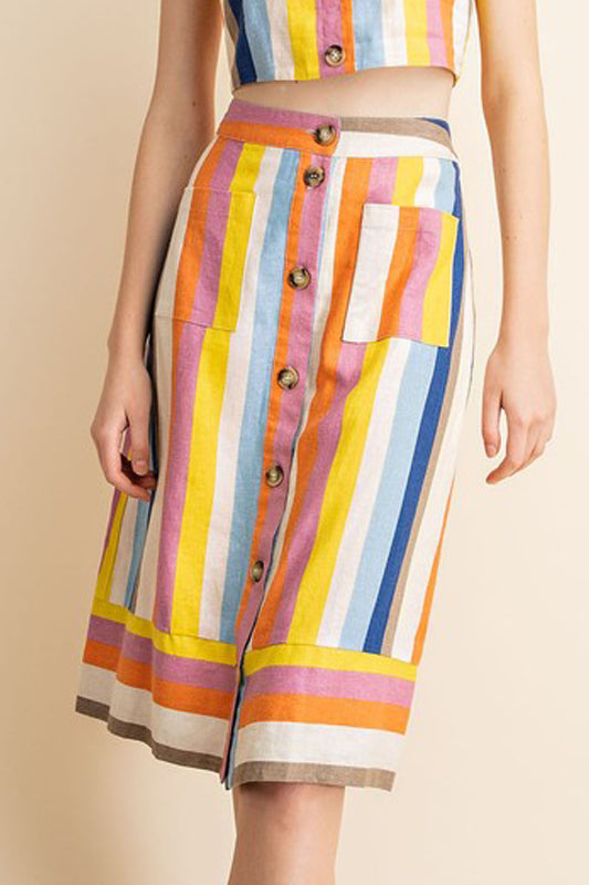 Susie Skirt - Multi-Stripe