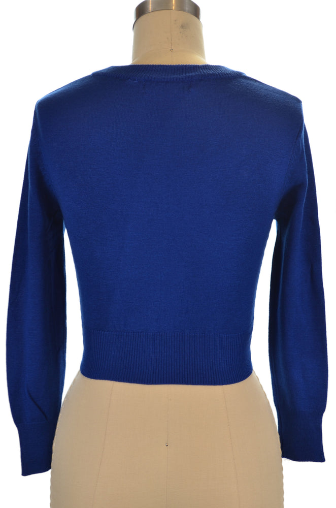 Jenny Cropped Cardigan - Royal Blue