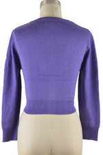 Jenny Cropped Cardigan - Blueberry