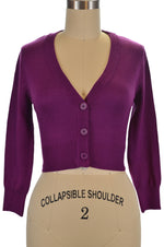 Jenny Cropped Cardigan - Purple