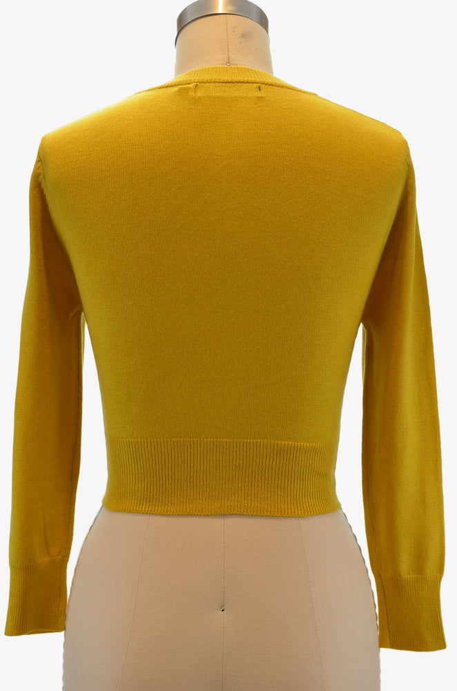 Jenny Cropped Cardigan - Honey
