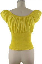 Daisy Peasant Top - Solid Yellow