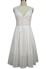 Zoey Sun Dress - White Eyelet