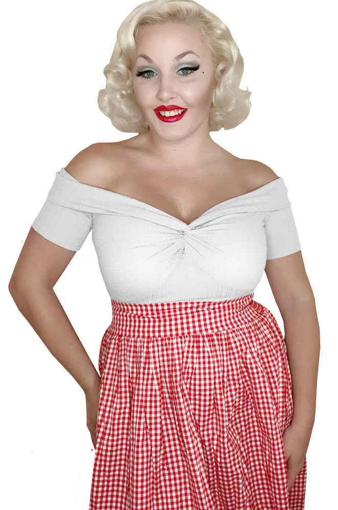 Sara Pocket Skirt - Red Gingham