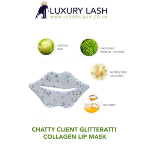 Luxury Lash UK Glitterati Collagen Lip Mask - for chatty clients x 10