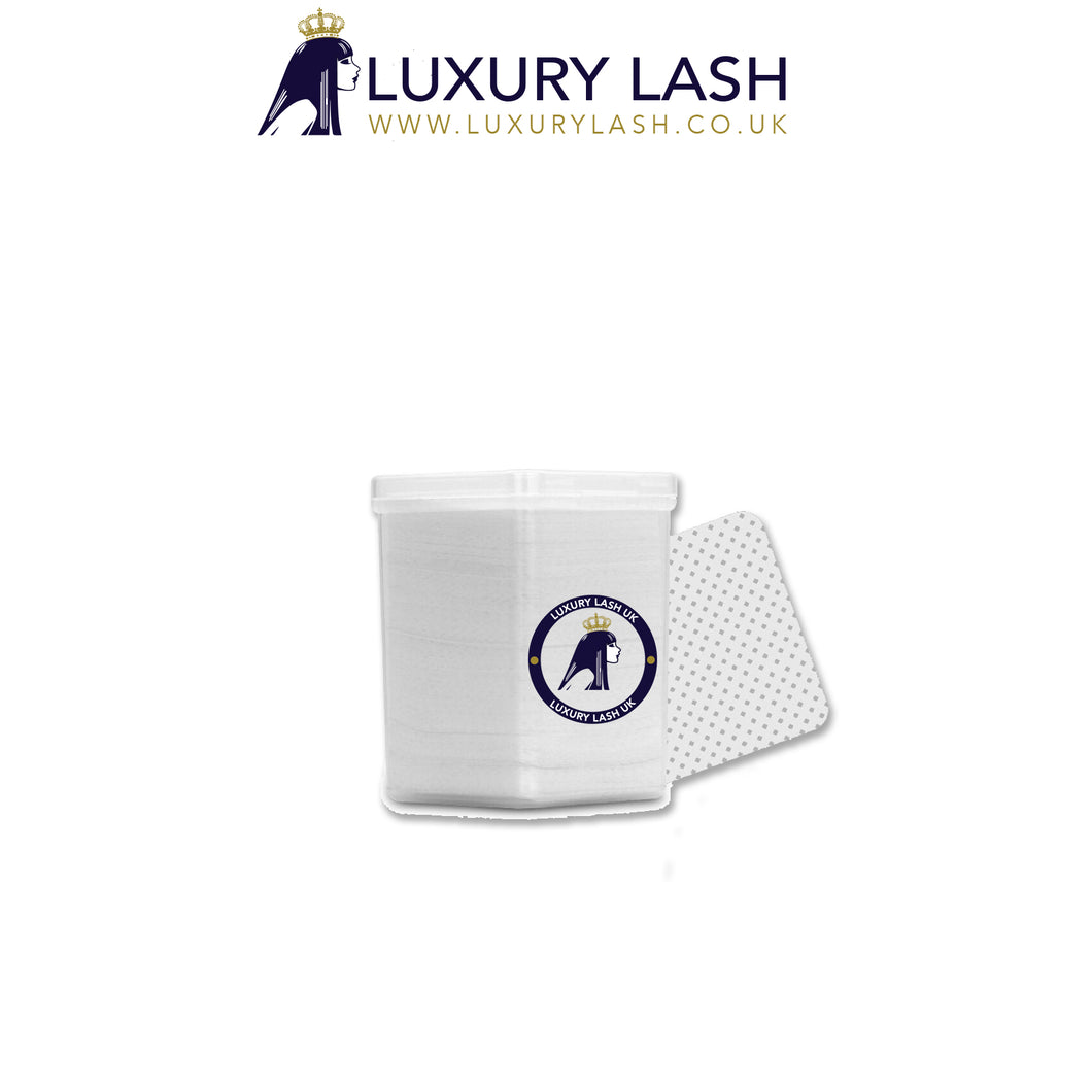 Luxury Lash UK Lint Free Glue Wipes with container