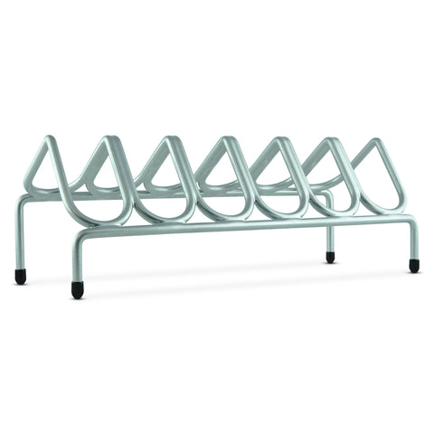 VR6 Versatile Handgun & Pistol Rack (Holds 6 Guns) Silver Metallic