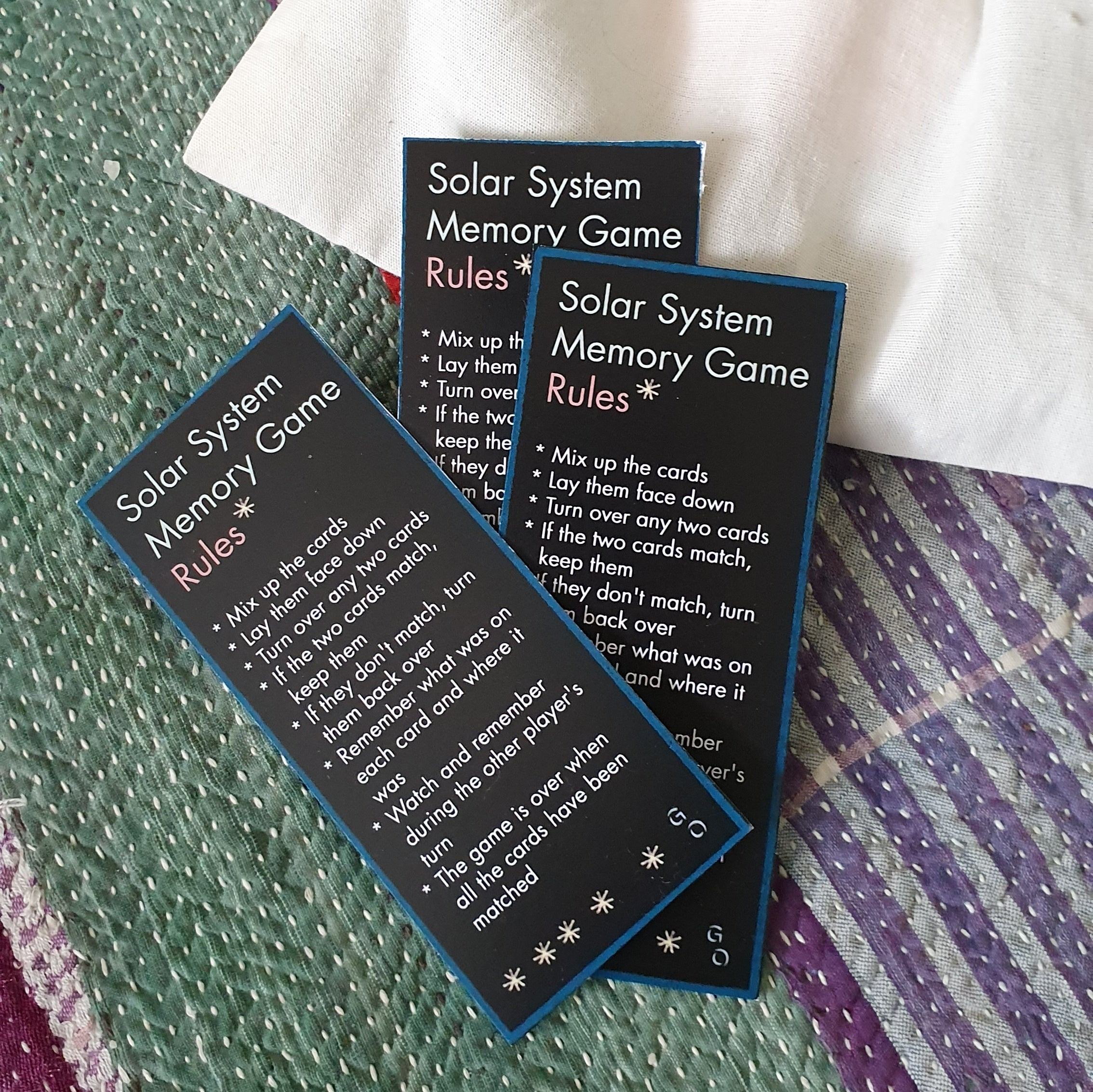 Solar System Memory Card Game