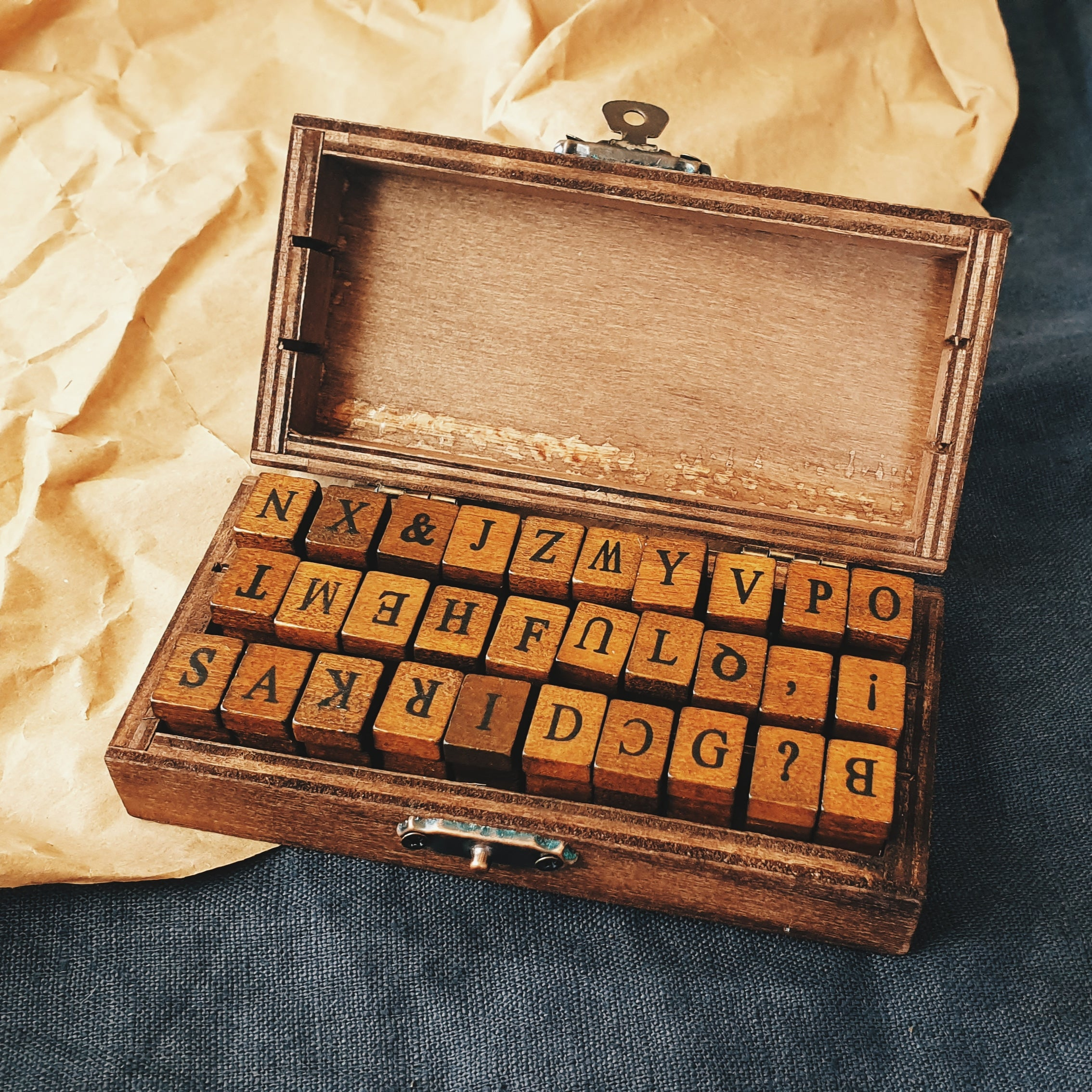 Antique Uppercase Alphabet Stamp Set