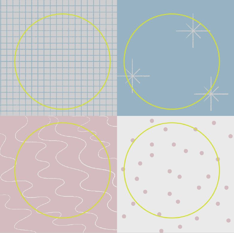 Useful Circle Pattern Sticker - Pack of 2