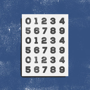 PRE-ORDER: Numbers - Pack of 2
