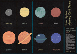 Solar System Memory Card Game (Printable)