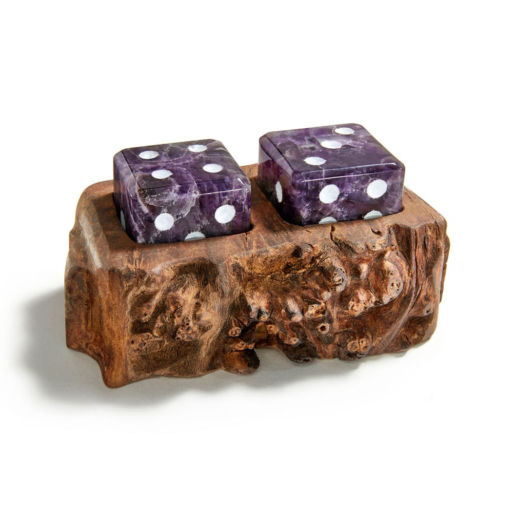 Afora Dice Wood & Cape Amethyst - ANNA New York