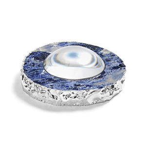 Ampliar Magnifying Glass Indigo & Pure Silver - ANNA New York