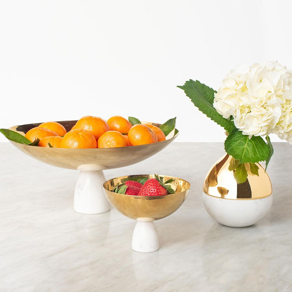Coluna Nut Bowl Marble & Gold - ANNA New York