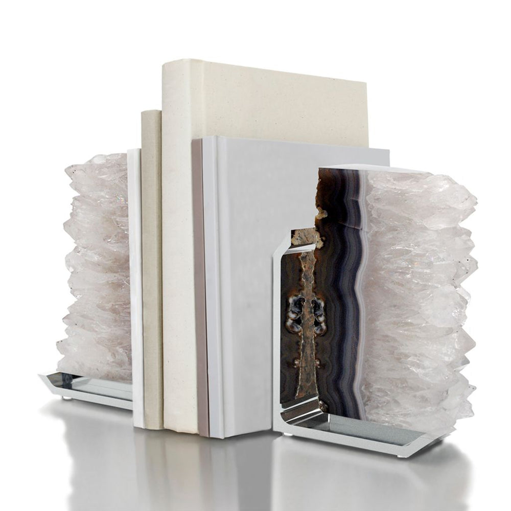 Fim Bookends Silver - ANNA New York