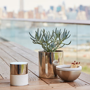La Cire Candle Alabaster & Silver - ANNA New York