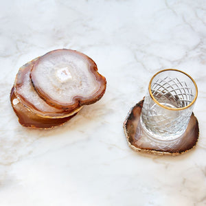 Pedra Gemstone Agate Coasters - ANNA New York