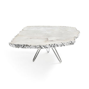 Load image into Gallery viewer, Torta Cake Plate Crystal / Pure Silver