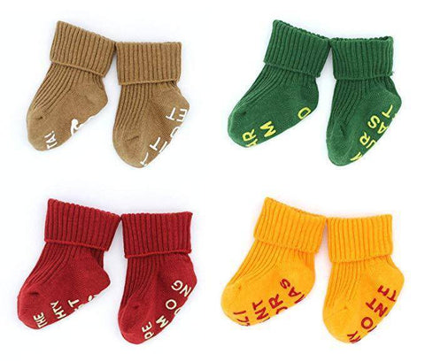 Christmas Socks for Baby Boys Girls | 4 Pair - lyndaskitchen