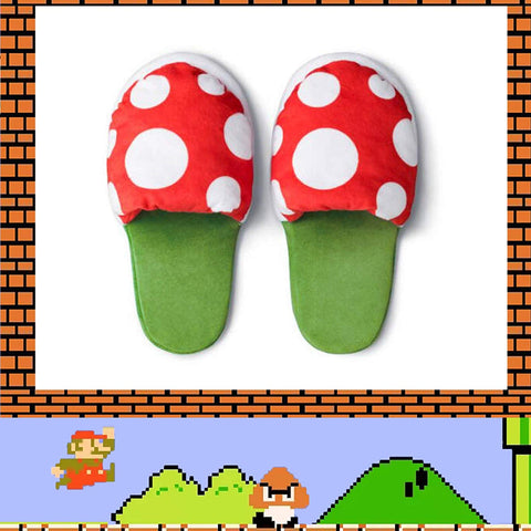 Piranha Plants Plush Slippers