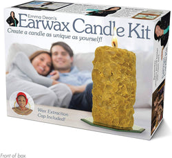 """Earwax Candle Kit"": Wrap Your Real Gift in a Prank Funny Gag Joke Gift Box"