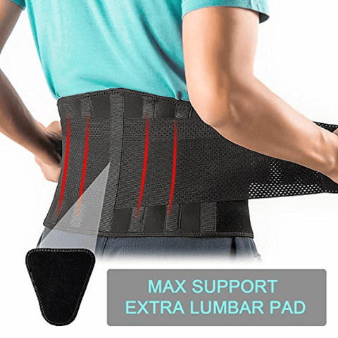 Image of Back Brace Support Belt-Lumbar Support Back Brace for Back Pain - lyndaskitchen