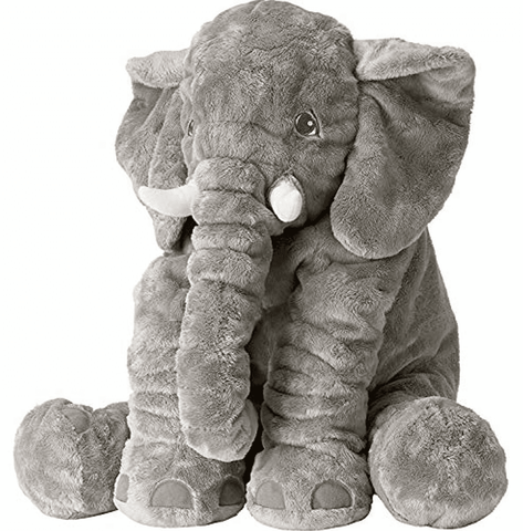 Elephant Pillow for babies and toddlers - 24inches - lyndaskitchen