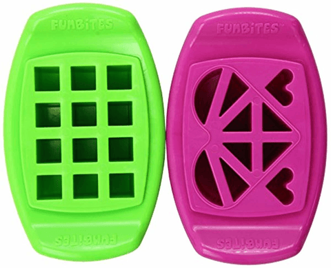Image of Shaped Food Cutter Set Green/Pink - lyndaskitchen