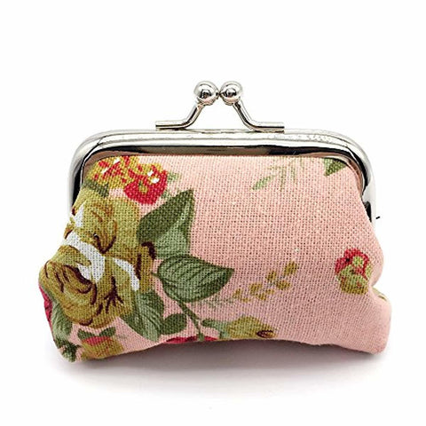 4pc Canvas Floral Coin Purse - lyndaskitchen